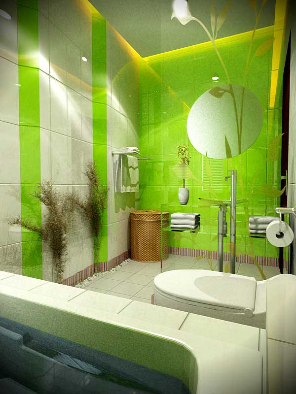 Fresh-Green-and-White-Bath-by-4bed-Design